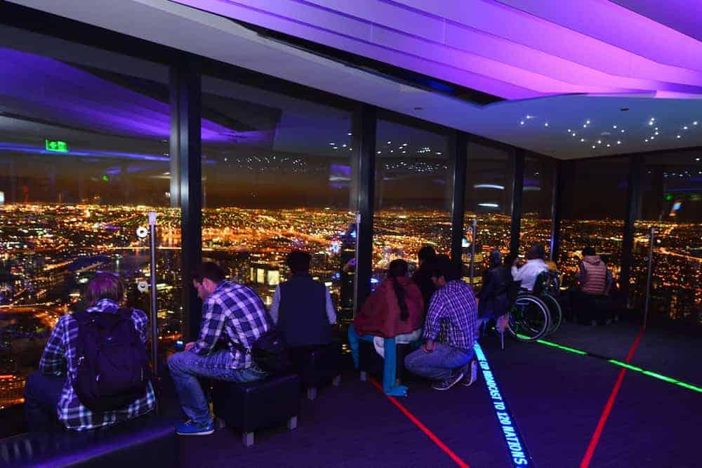 Venture Thrill_Eureka Skydeck in Melbourne at Night